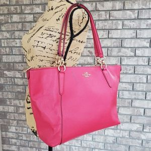 Coach Ava leather tote handbag pink authentic